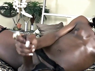 black-and-ebony,lingerie,masturbation